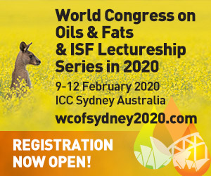 World Congress on Oils and Fats & ISF Lectureship 2020