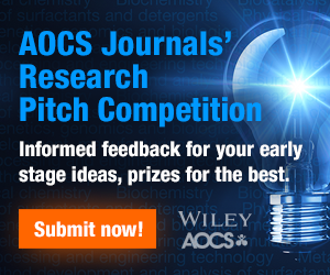 Submit your biggest and brightest ideas to the AOCS Journals' Research Competition